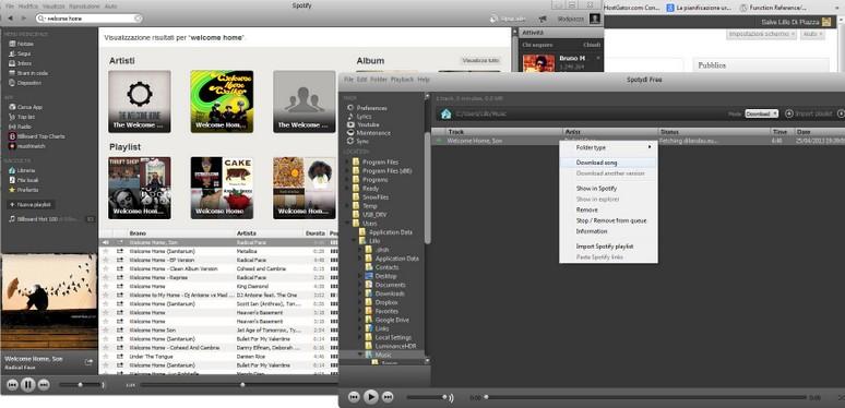 trasferire musica da spotify al pc